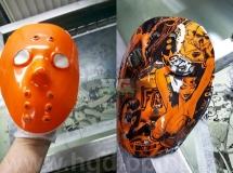 Masker in vrouwen print