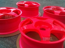 Neon red rims