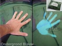 Thermochromic groen ondergrond lichtblauw