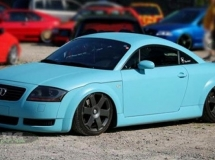 Audi TT - plastic dip blauw