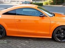 Oranje plastic dip auto