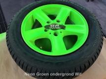 Plastic dip auto velg Neon Groen